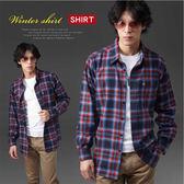 【大盤大】(S11512) 長袖襯衫 棉100% 法蘭絨 格子襯衫 格紋 微涼 出國旅行 上班族 有加大尺碼