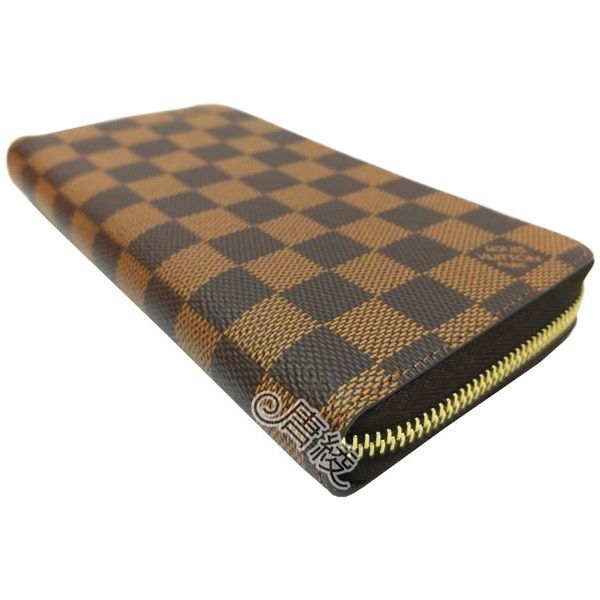 【Louis Vuitton 路易威登】N41661 經典Damier棋盤格帆布ZIPPY拉鍊長夾