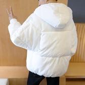 羽絨外套 冬天男士連帽短款加厚羽絨服男學生白色大碼情侶棉衣男新款面包服-快速出貨