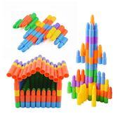 子彈頭積木塑料拼插裝幼兒園寶寶兒童玩具