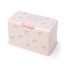 Sanrio 防塵按壓式口罩收納盒 美樂蒂 兔子玩偶&花 粉_161811