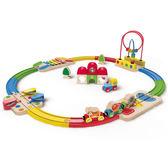 【免運費】《 德國 Hape 愛傑卡》 軌道組合 - 彩虹軌道及車站╭★ JOYBUS玩具百貨