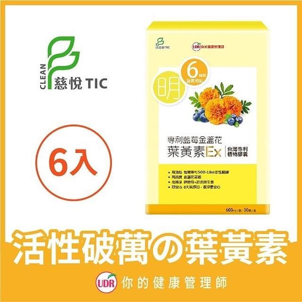 【南紡購物中心】【UDR】專利藍莓金盞花葉黃素EX(x6盒)