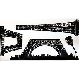 【收藏天地】創意生活*藝術裝飾壁貼-巴黎鐵塔