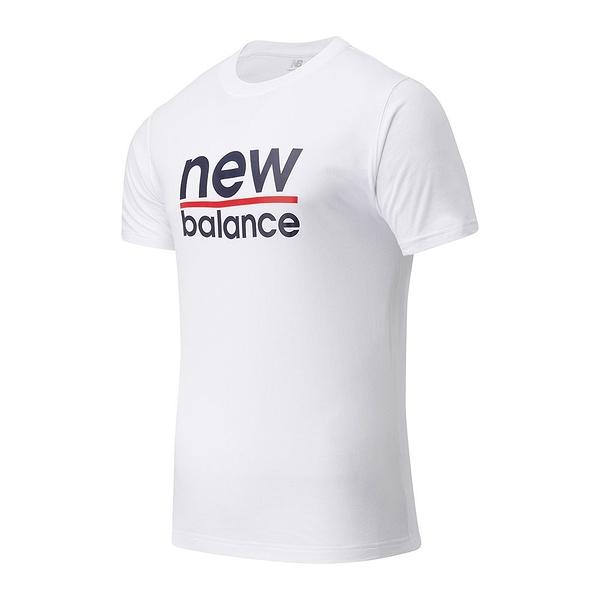 New Balance Classic Split 男裝 短袖 休閒 基本款 LOGO 白【運動世界】MT11905WT