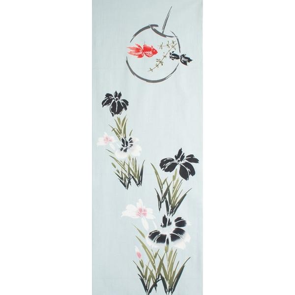 【日本製】【和布華】 日本製 注染拭手巾 菖蒲花與金魚圖案(一組:3個) SD-5135-3 - 和布華