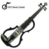 集樂城樂器 JYC SDDS-1305 彩繪琴身高級三段EQ電小提琴(斑馬紋)