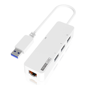 TOTOLINK USB3.0轉RJ45 Giga網路卡+集線器 U1003