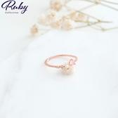 戒指 韓國直送‧蛋白石珍珠螺紋指環戒指-Ruby s 露比午茶