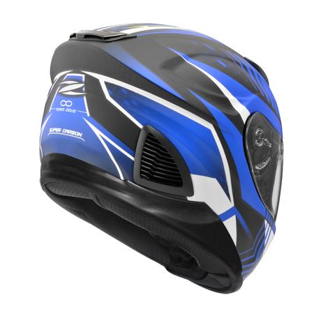 【東門城】ZEUS ZS1600 AK6 (消光碳纖/藍) 全罩式安全帽