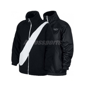 Nike 外套 NSW Swoosh Jacket 黑 白 女款 絨毛外套 雙面穿 【PUMP306】 CI8938-010