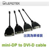 【免運費】LEADTEK 麗臺 繪圖卡配件 mDP轉DVI 線材 - 單條裝