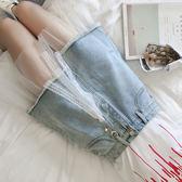 85折牛仔裙拼接半身裙韓國ins短裙女士短款女韓版開學季