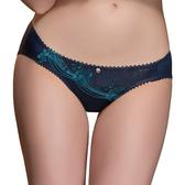 思薇爾-山茶花神系列M-XL蕾絲刺繡低腰三角內褲(星燦藍)