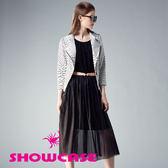 【SHOWCASE】名媛蕾絲透膚層次紗裙洋裝(黑)
