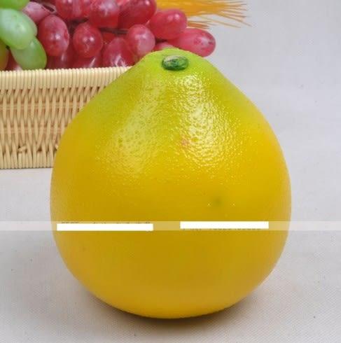 [協貿國際]仿真柚子模型黃柚2入