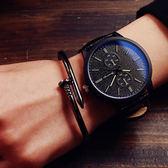 韓國原宿風磨砂新款潮流大錶盤情侶復古男女情侶手錶學生錶男錶女錶對錶[W060]