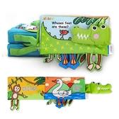 澳洲jollybaby英文鱷魚腳丫安全布書 布書 童書