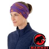 【MAMMUT 長毛象】圍脖『黎明紫/日出橙』1191-05812 戶外 運動 露營 跑步 馬拉松 頭巾 髮帶 圍巾