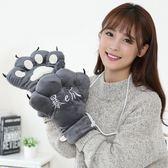 暴爪韓版情侶可愛爪子保暖熊掌男女冬季毛絨卡通動物貓爪學生手套   傑克型男館