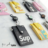 Sequin .掛脖鑰匙圈伸縮釦卡套證件夾票卡夾悠遊卡夾隨身拉鍊零錢包~wb378 ~911 SHOP