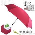 雨傘 萊登傘 超大傘面 可遮三人 易甩乾 不回彈 無段自動傘 鐵氟龍 Leighton 熱情紅