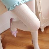 連身褲襪 打底襪 春秋復古蕾絲連褲襪唯美豎條白色鏤空美腿顯瘦襪子女 絲襪【多多鞋包店】ps1510