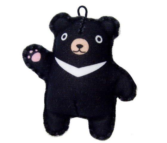 ☆猴子設計☆ 台灣黑熊布偶明信片-明信片可以DIY成一個可愛布偶-可加購材料包