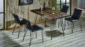 【新北大】✪ G468-1 貝德4尺實木鋼筋餐桌(不含餐椅)-18購