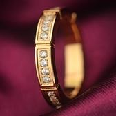 玫瑰金鑲鑽純銀戒指-齒輪滿鑽精美時尚生日情人節禮物女飾品71am77[巴黎精品]