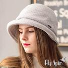 羊毛呢冬帽子-高級針織羊毛混紡保暖防風淑女圓邊漁夫冬帽17AW-S002 FLYSPIN