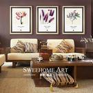 誰家 繽紛世界 畫壁畫掛畫有框畫 現代簡約客廳 臥室三聯裝飾畫WY 【快速出貨超夯八折】