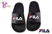 FILA 拖鞋 男女款 全防水 運動拖鞋 情侶鞋 H5908#黑色◆OSOME奧森鞋業