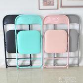 折疊椅子便攜凳子靠背椅塑料家用餐椅簡約辦公椅會議椅電腦培訓椅 YXS『小宅妮時尚』