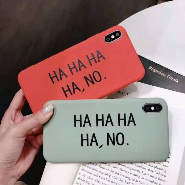 【SZ51】韓風HAHA字母軟殼 iphone XS max iphone 8 plus手機殼  iphone xr手機殼 iphone xs手機殼