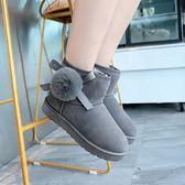 雪靴 雪地靴女2019冬季新款韓版百搭短靴子