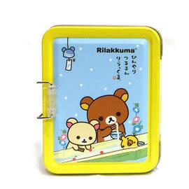 日本拉拉熊 懶懶熊 兩層收納小鐵盒 夏日流水麵線 收納盒 便條紙 名片盒 韓國製造 里和 RIHO