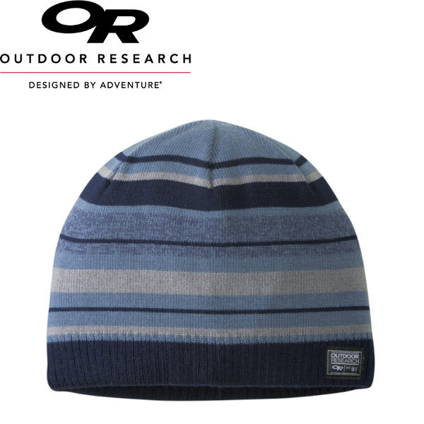 【Outdoor Research 美國 BASELINE BEANIE壓克力緄紡透氣保暖帽《黑灰藍條紋》】254062/毛帽