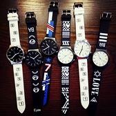 青少年手錶男女中學生韓版簡約潮流ulzzang休閒黑白個性情侶一對-享家