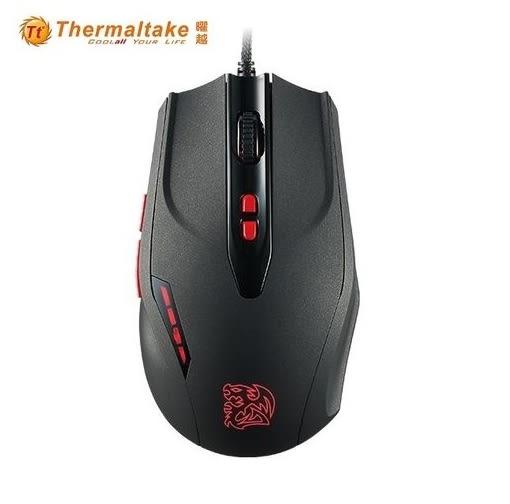 【超人生活百貨】曜越電競滑鼠 黑者 BLACK V2 DPI微調鈕 絶對升級的操控精準度 激光亮粉皮革烤漆