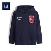 Gap男童創意徽標LOGO套頭連帽衫525037-海軍藍