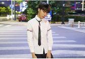 短袖襯衫新款帥潮男女學院風長短袖百搭白襯衫寬鬆韓版秋季風 韓流時裳