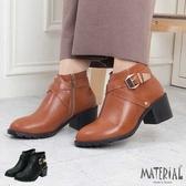 短靴 交叉側扣環帥氣短靴 MA女鞋 T5614