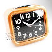 SEIKO 精工 響鈴 靜音 貪睡鬧鐘 鬧鈴 鬧鐘 QHK023E 橘色