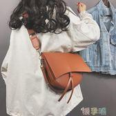 小眾包斜背包大包包女時尚寬肩半月包帶子防水小眾超火  【四月特賣】