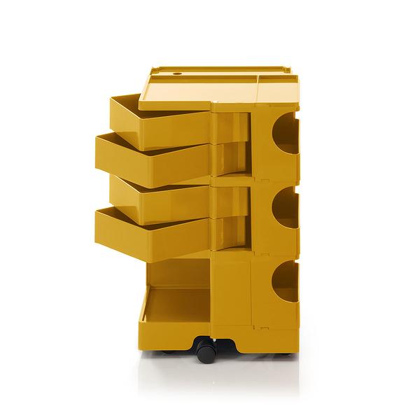 B-Line Boby Mod.M H73.5cm 巴比 多層式系統 收納推車 高尺寸 - 黃綠特殊色系列(蜂蜜黃 - 四抽屜)