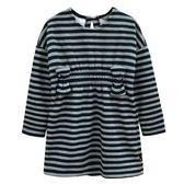 『小鱷魚童裝』不倒絨條紋洋裝(02號~10號)534387