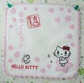 【震撼精品百貨】Hello Kitty 凱蒂貓~方巾/毛巾-Q版櫻花(吉)*57097