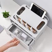 尾牙鉅惠無線路由器收納盒理線盒置物架Wifi整理盒插線板保護盒電線理線器 俏女孩
