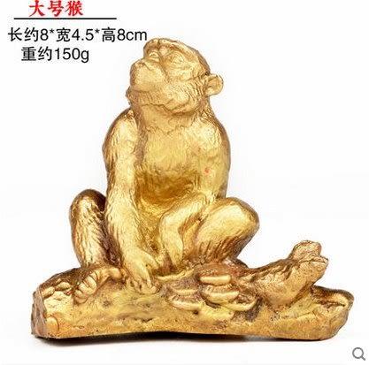 開光純銅十二生肖擺件屬鼠牛虎屬兔龍蛇馬羊猴雞狗豬  大號猴3942N21